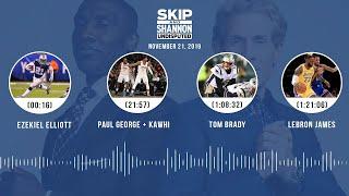 Zeke, Paul George + Kawhi, Tom Brady, LeBron James | UNDISPUTED Audio Podcast