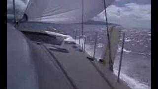 catamaran sailing very fast