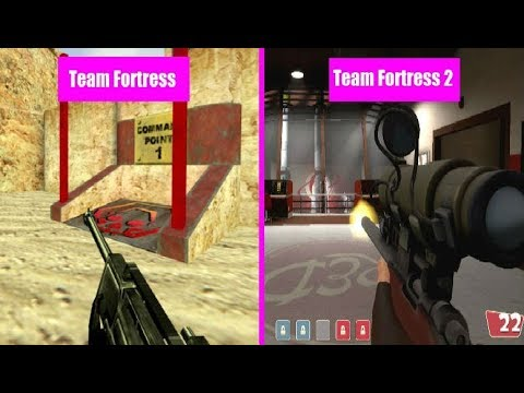 Team Fortress Classic Vs Team Fortress 2 Weapon Comparison Youtube