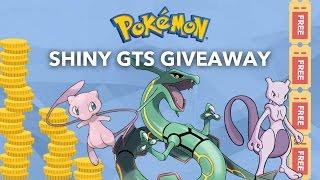 Shiny Pokemon GTS / GTS War Giveaway! 250+ Pokemon Choices! Battle Ready! Everyone Wins!