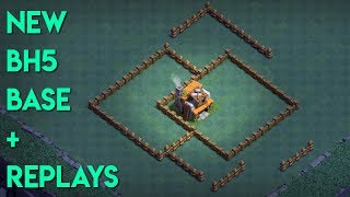 NEW BEST Builder Hall 5 (BH5) Base w/REPLAYS | Clash of Clans