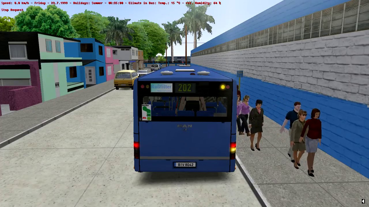 OMSI 2 ( La Habana ) First look on new map 4, MAN Citybus Series DLC