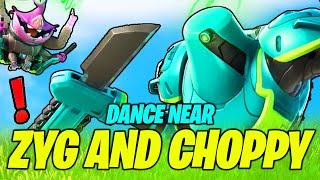 Dance near Zyg and Choppy - WORKING Location (Fortnite Season 7 Challenge)