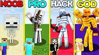 Minecraft Battle: NOOB vs PRO vs HACKER vs GOD: SKELETON MUTANT EVOLUTION CHALLENGE / Animation
