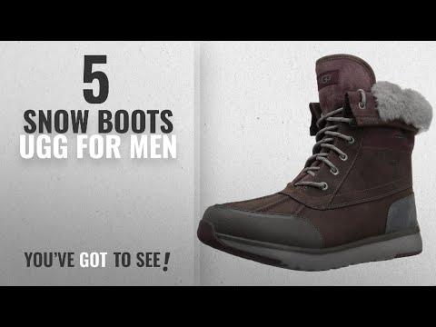 Top 10 Snow Boots Ugg [ Winter 2018 ]: UGG Men's Eliasson Snow Boot, Cordovan, 10 M US