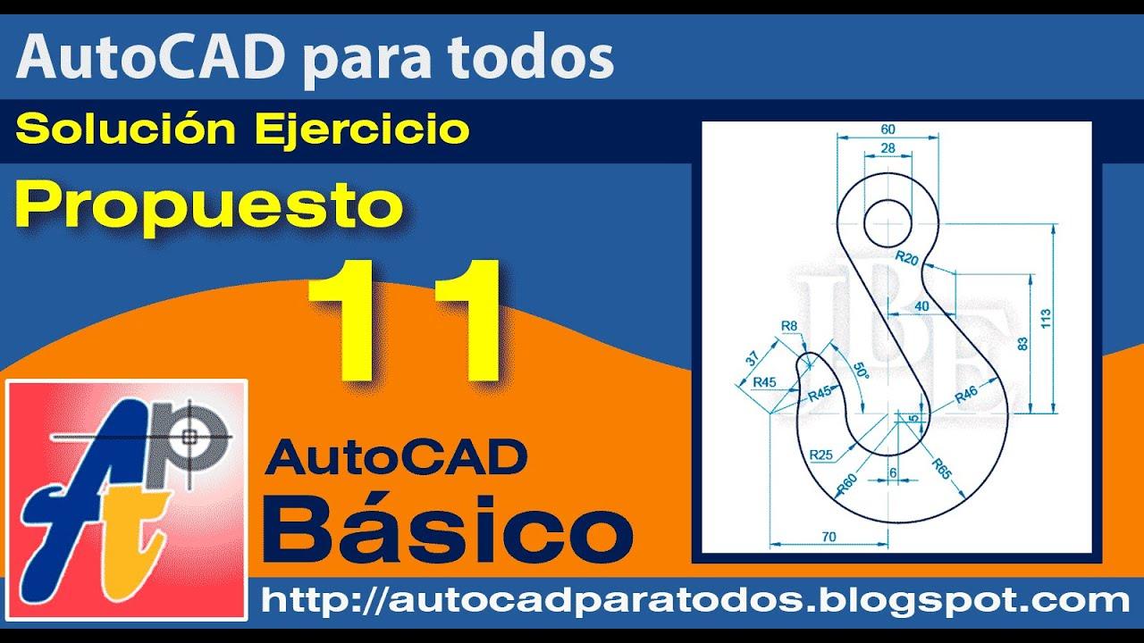Solución Ejercicio Propuesto 11 - AutoCAD Básico