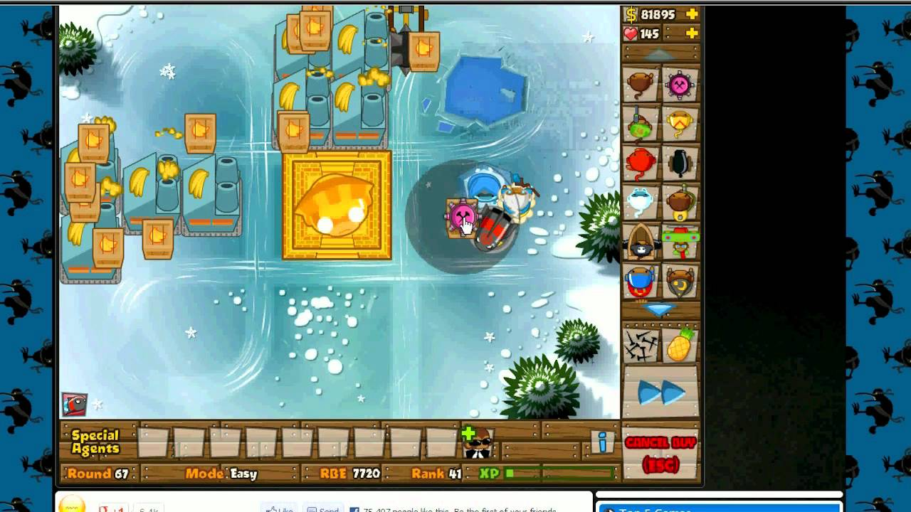 Bloons Tower Defense 5 (best high round setup & rank up ...