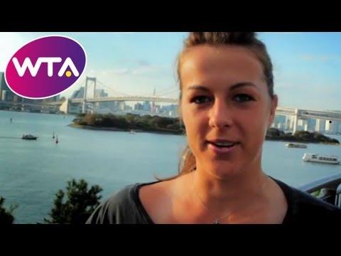 Anastasia Pavlyuchenkova Presents the Dubai Duty Free Full of Surprises Travel Show in Tokyo   WTA