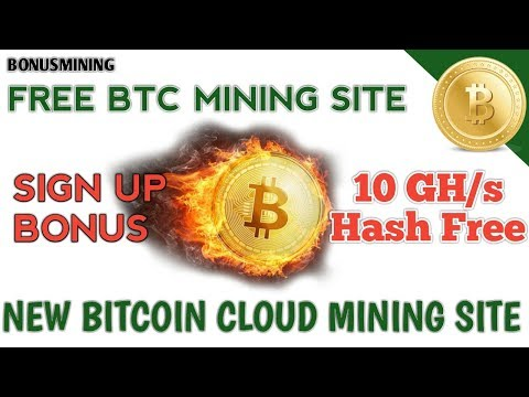 BONUSMINING || NEW FREE BITCOIN CLOUDMINING SITE || 10 GHS FREE HASH