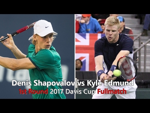 Tennis TV || Denis Shapovalov vs Kyle Edmund First Round 2017 Davis Cup Fullmatch