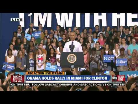 LIVE | President Obama holds campaign rally in Miami for Hillary Clinton