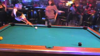 Wagering $100 per game on billiards