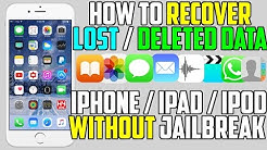 How To Recover LOST / Deleted Data ( Videos, Photos, Messages, Contacts and More..) iPhone iPad iPod
