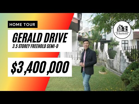 GERALD DRIVE, LAND 3,647sqft, Freehold 3.5 Storey Semi Detached, Singapore Landed Property for Sale