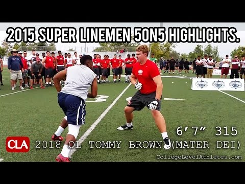 Tommy Brown 2018 OL Highlights: Super Linemen 5on5 Mixtape #D1Bound - CollegeLevelAthletes.com