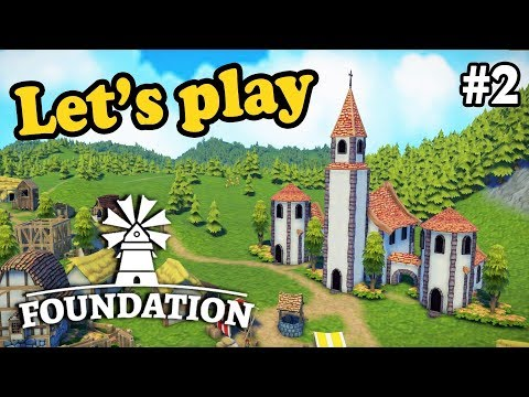 Our first custom church!  | Foundation | Ep. 2 | Medieval grid-less City Building Simulation Game