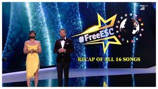 Free European Song Contest 2021 Recap of All 16 Songs #FreeESC
