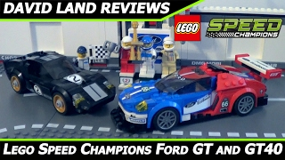 LEGO Speed Champions Ford GT and GT40 HD Unboxing/Review [75881]