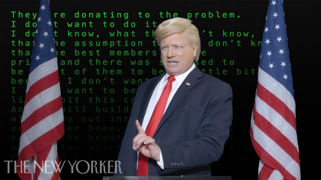 A Trump Speech Written By Artificial Intelligence | The New Yorker