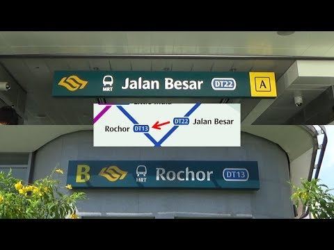 DT22 Jalan Besar to DT13 Rochor by Foot