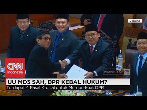 UU MD3 Sah, DPR Kebal Hukum?