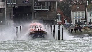 RNLI Shoreham, Tamar Class Lifeboat Launch.