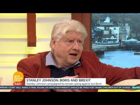 Boris Johnson's Father Writing Fiction Book About Brexit | Good Morning Britain