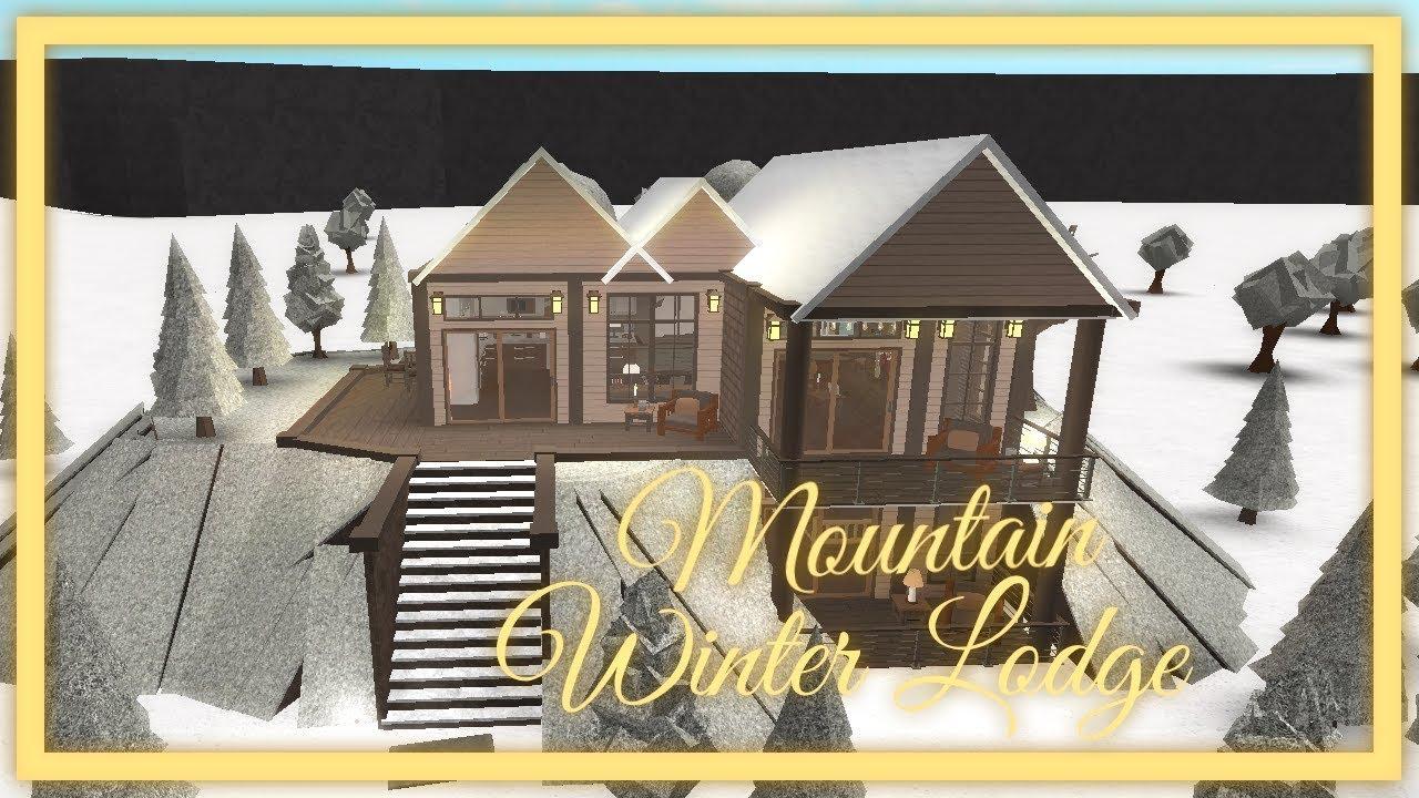 Roblox Bloxburg Mountain Winter Lodge 108k Youtube