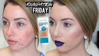 COVERGIRL CLEAN MATTE BB CREAM Acne/Pale Skin | First Impression Review & Demo FOUNDATION FRIDAY