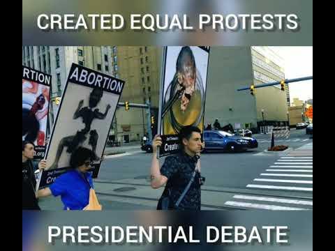 Created Equal Attends Presidential Debate