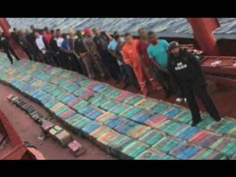 Massive 5,529 kilo load of cocaine found in flooded hold of cargo ship