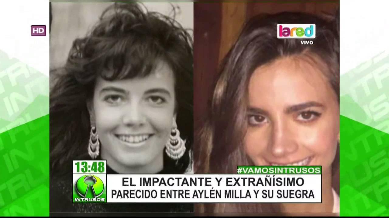 El impresionante parecido entre Aylén Milla y la madre de Marco ...