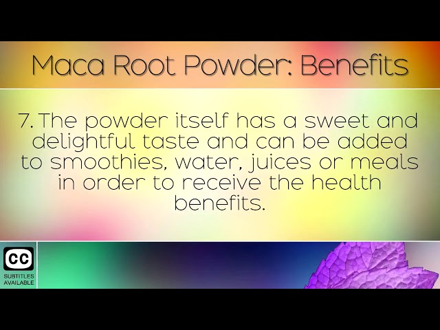 Maca Powder Benefits & Uses