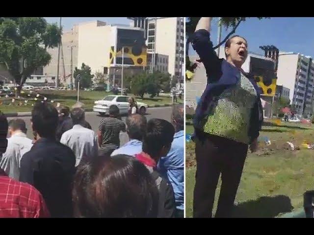 Iran: Courageous Lady Chants, Death to Khamenei