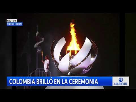 Así se lució Colombia en la inauguración de los Olímpicos de Tokio