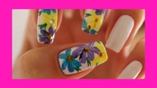 Рисуем на ногтях цветочки акриловой краской / Drawing on the nails flowers acrylic paint(В этом видео покажу вам как я рисую цветочки акриловыми красками. На белом тоне очень красиво смотрятся..., 2013-09-27T17:08:08.000Z)