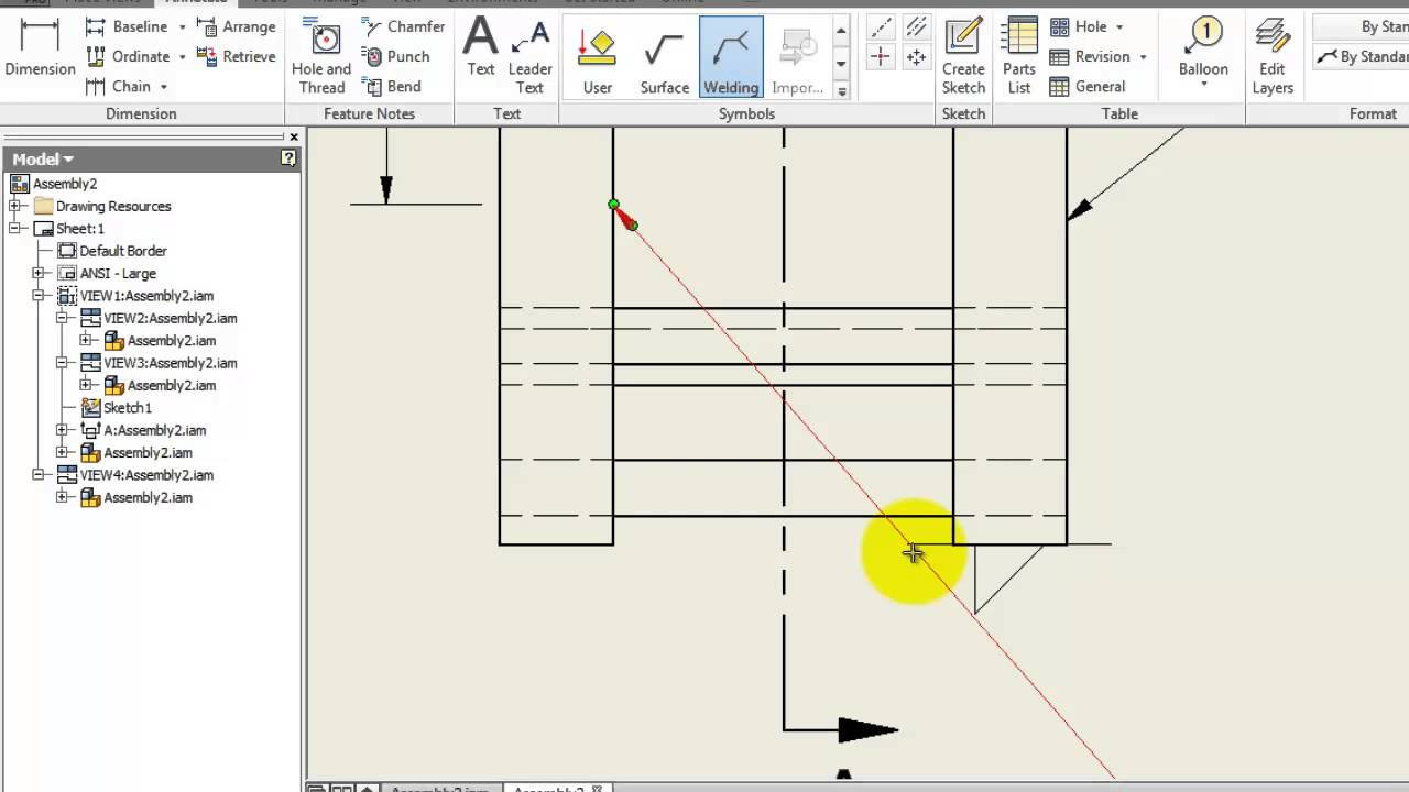 116 inventor drawing tutorial welding youtube 116 inventor drawing tutorial welding tutorials engineer biocorpaavc Image collections