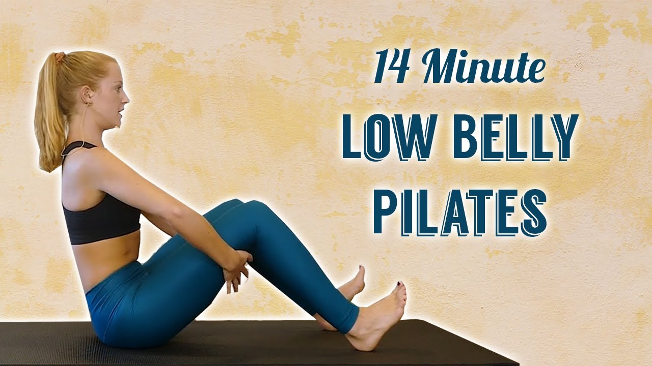 Pilates for Low Belly Fat, 14 Min Workout, Flat Abs Exercises, Intermediate Level, No Equipment