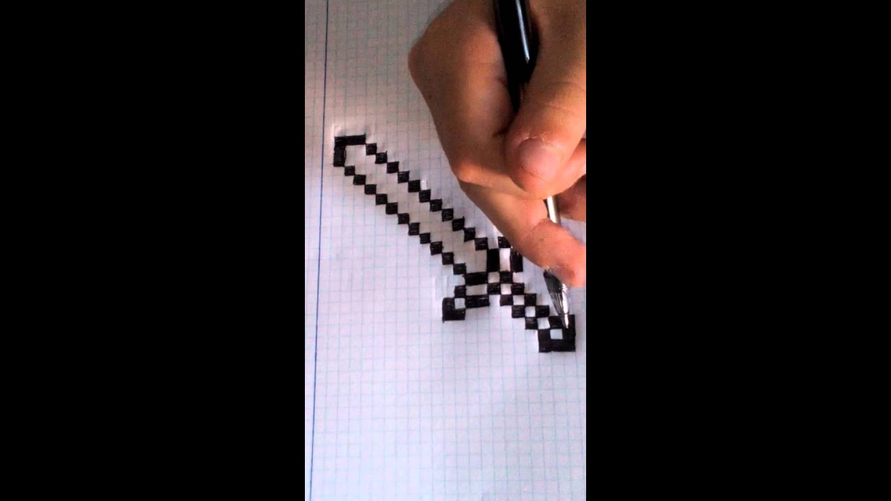 Como dibujar una espada de minecraft facilisimo  YouTube