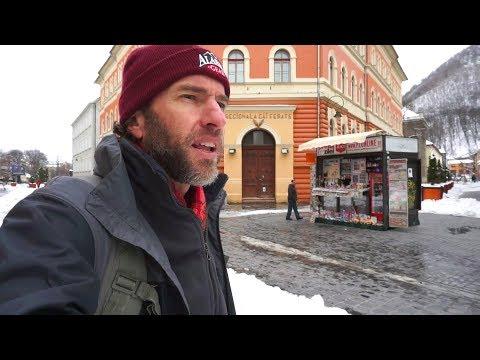 Walking Around Brasov, Romania in Winter