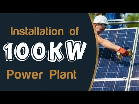 100-kW Solar Power Plant Installation :Solar Energy India