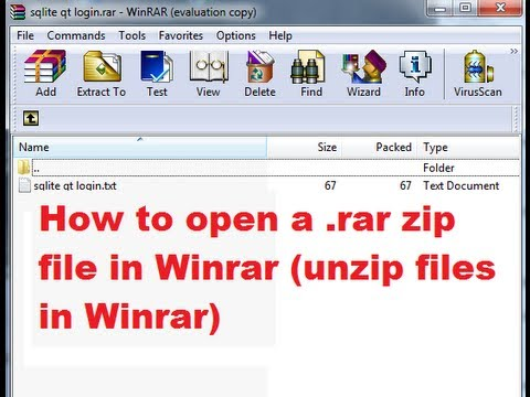 How to open a rar zip file in Winrar (unzip files in Winrar) - YouTube