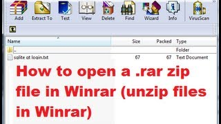 How To Open A .rar Zip File In Winrar  Unzip Files In Winrar
