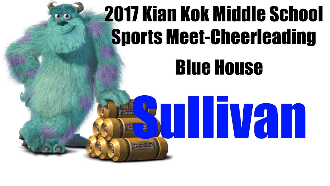 2017 kian kok middle school sports meet cheerleading - blue house