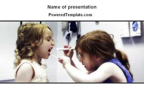 Children's Dental Health PowerPoint Template by PoweredTemplate.com
