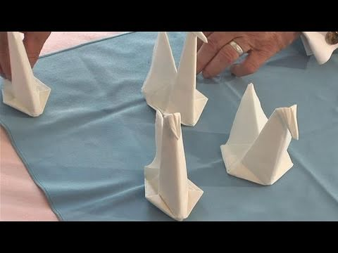 How To Make A Swan Napkin