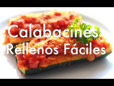 Calabacines rellenos gratinados f ciles recetas ligeras for Cenas faciles y economicas