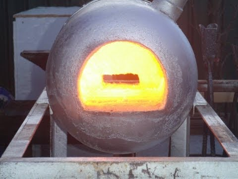 How to build a simple gas forge. Making the shell and instal
