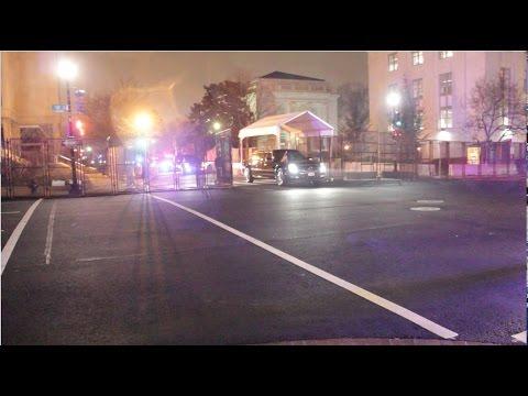 President Donald J. Trump's Motorcade First Night as POTUS 1-20-17