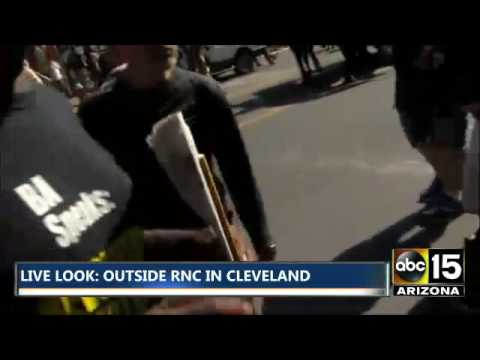 Revolutionary Communist Party tries to hijack live newscast at Republican National Convention